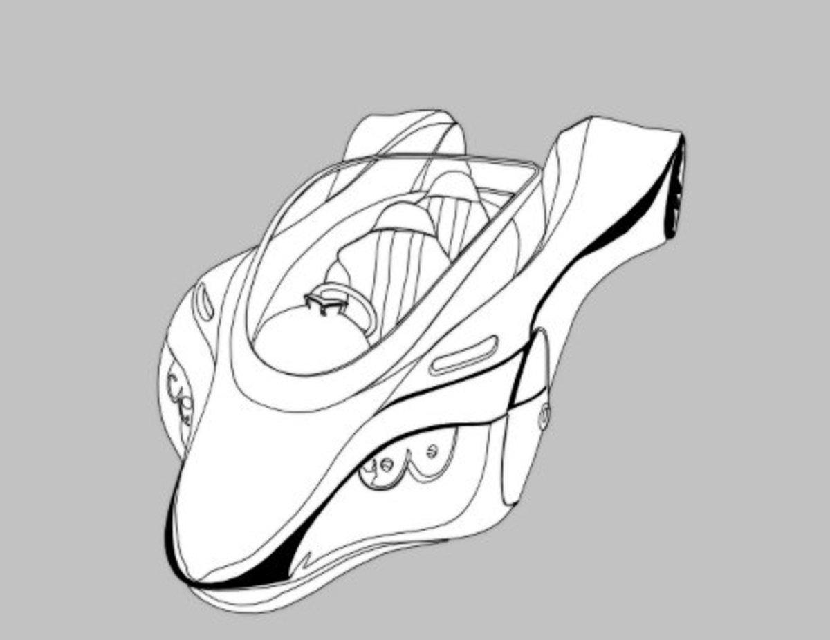 Nissan Motivity 400C, Futuristic Concept Car.