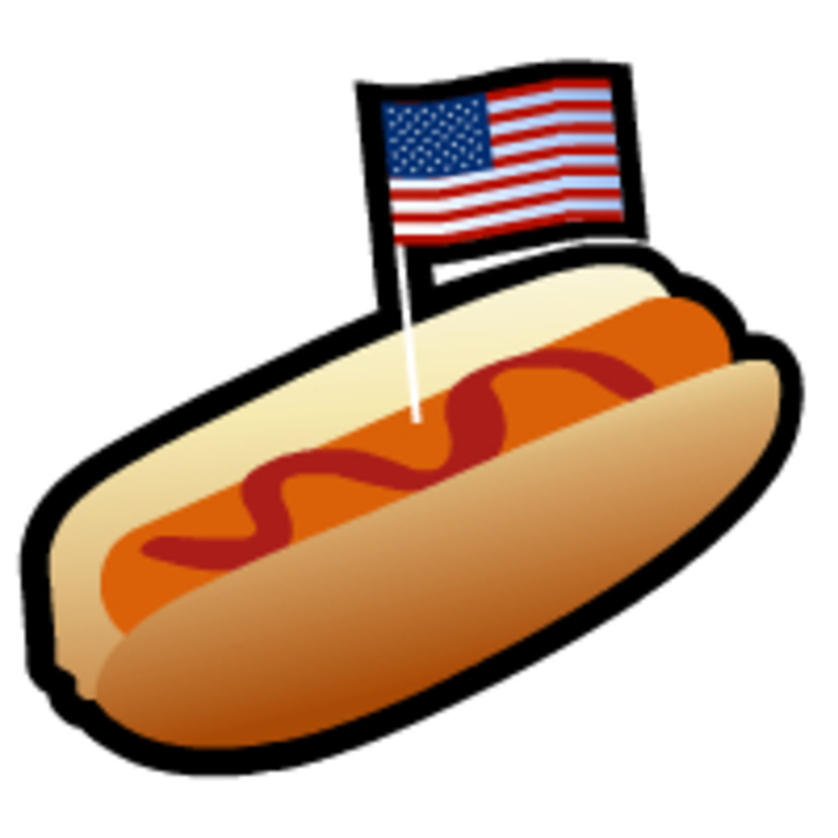 Fourth of July clip art: hot dog