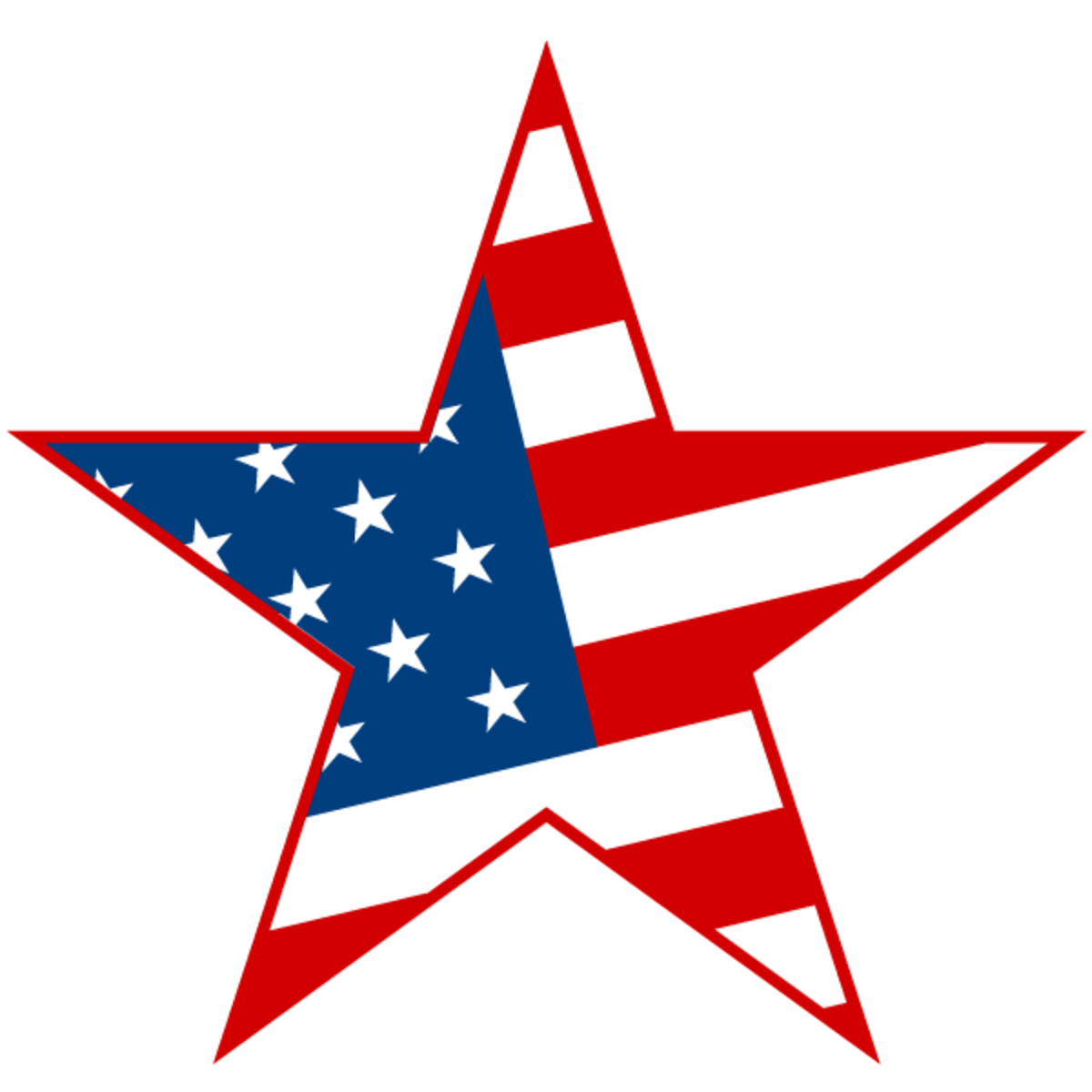 4th of July clipart: stars and stripes
