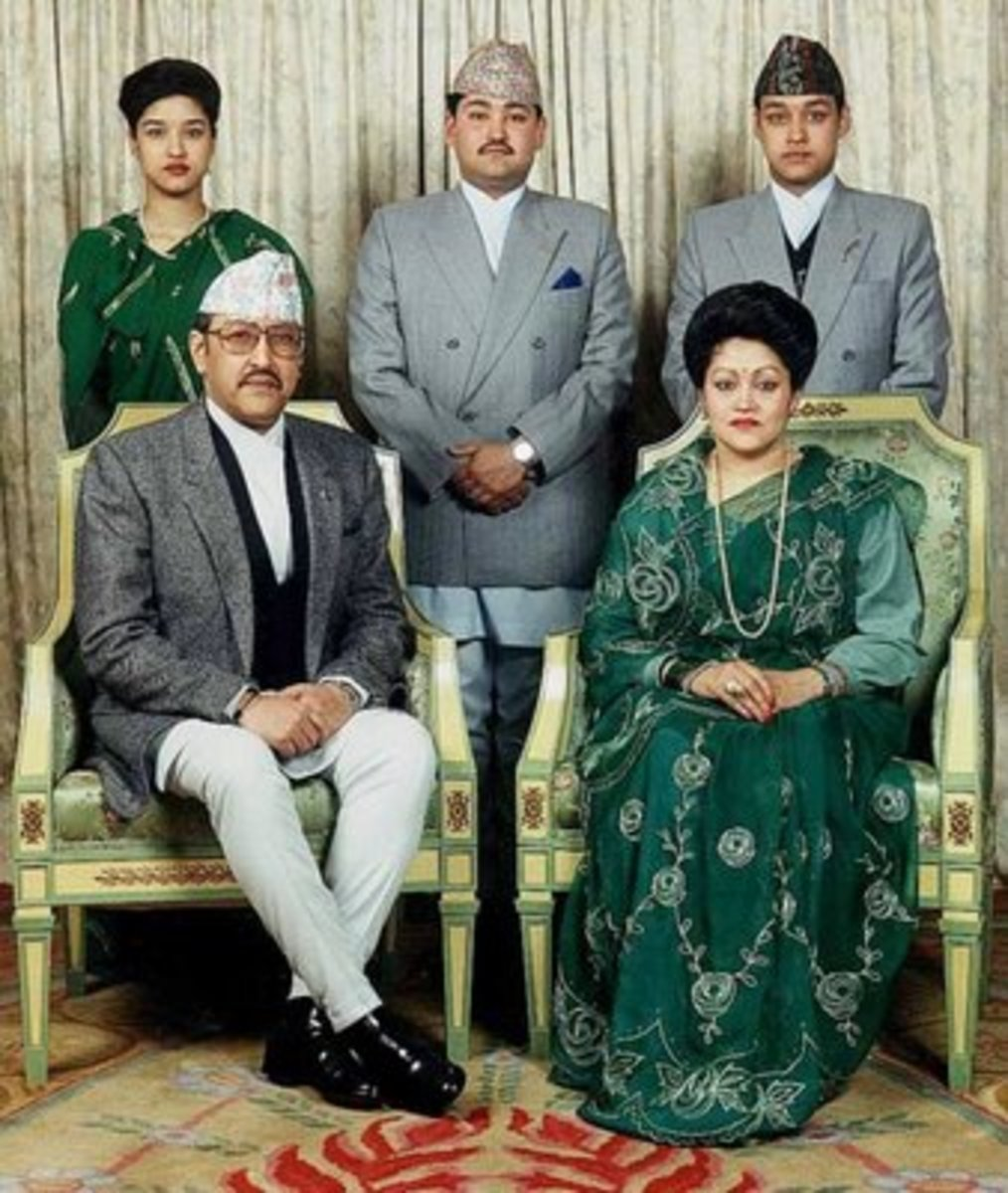 King Birendra and family
