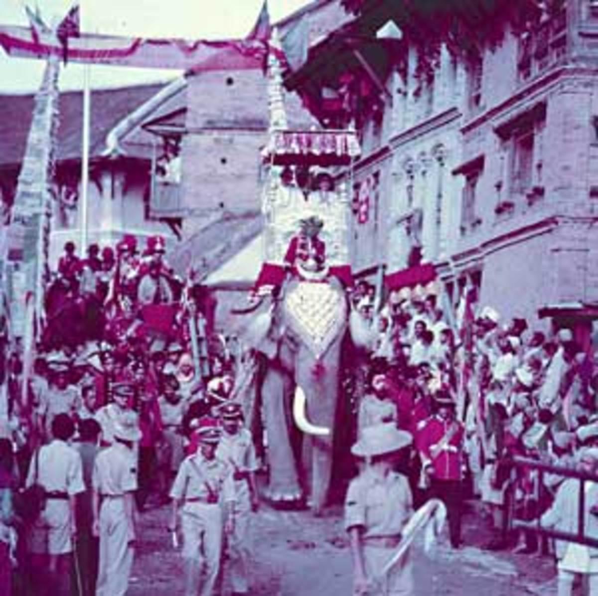 King Mahendra's Coronation ceremony