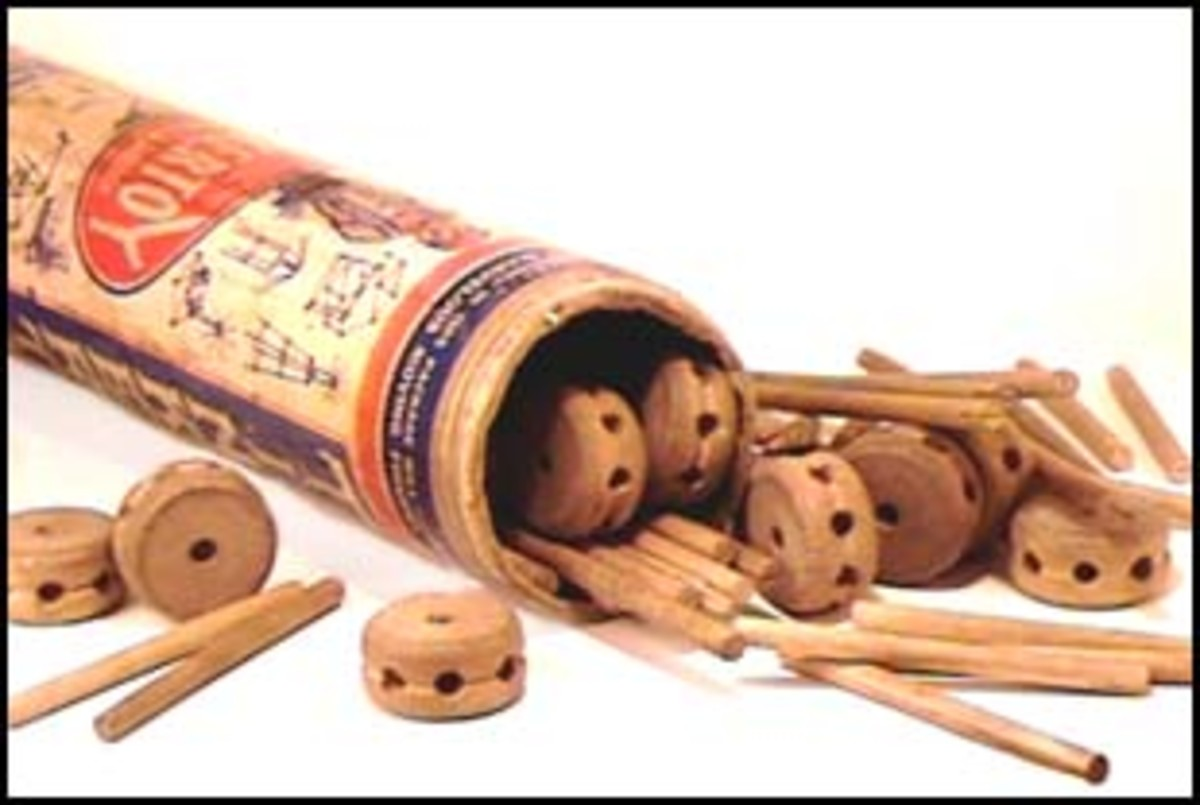 tinker toys can also be used for axles and wheels