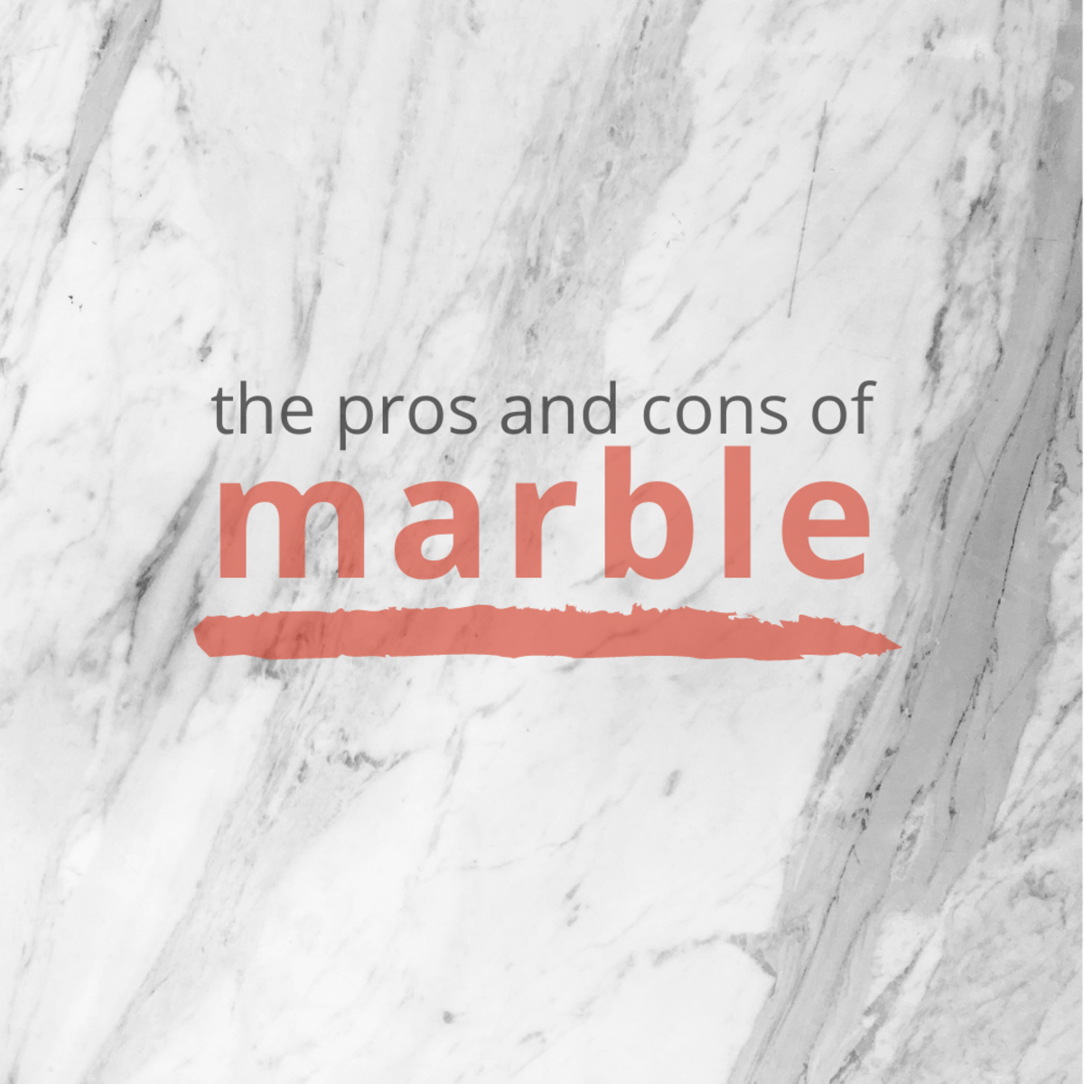A list of the pros and cons of marble table tops and counters.