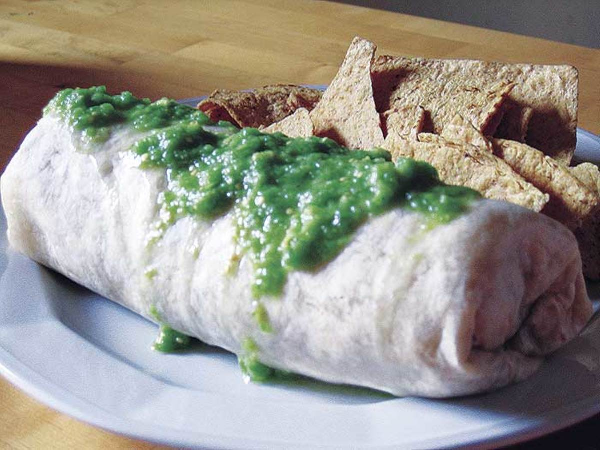 Dry = salsa inside the burrito, Wet = salsa on top