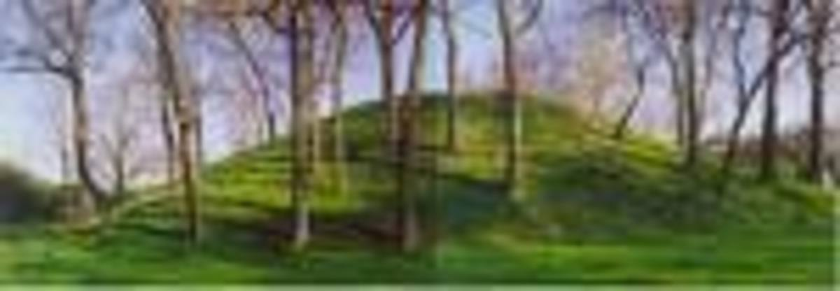 Shrum Mound, an early Native American burial mound in a small park on the West Side of Columbus.