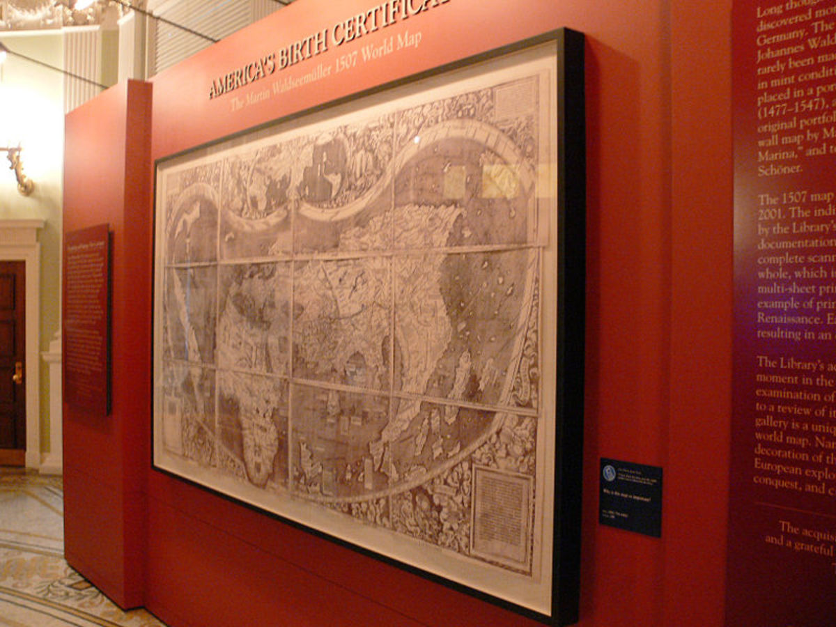 The History Of USA And The New World Through Its Ancient Maps