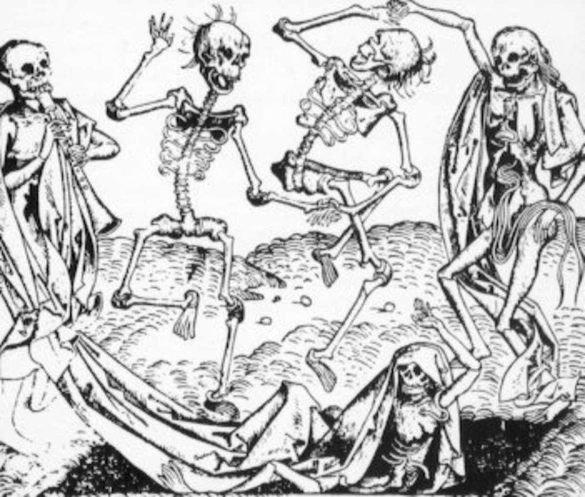Dance Macabre depicting the madness [Ergot poisoning] that hit Europe after the Black Death.