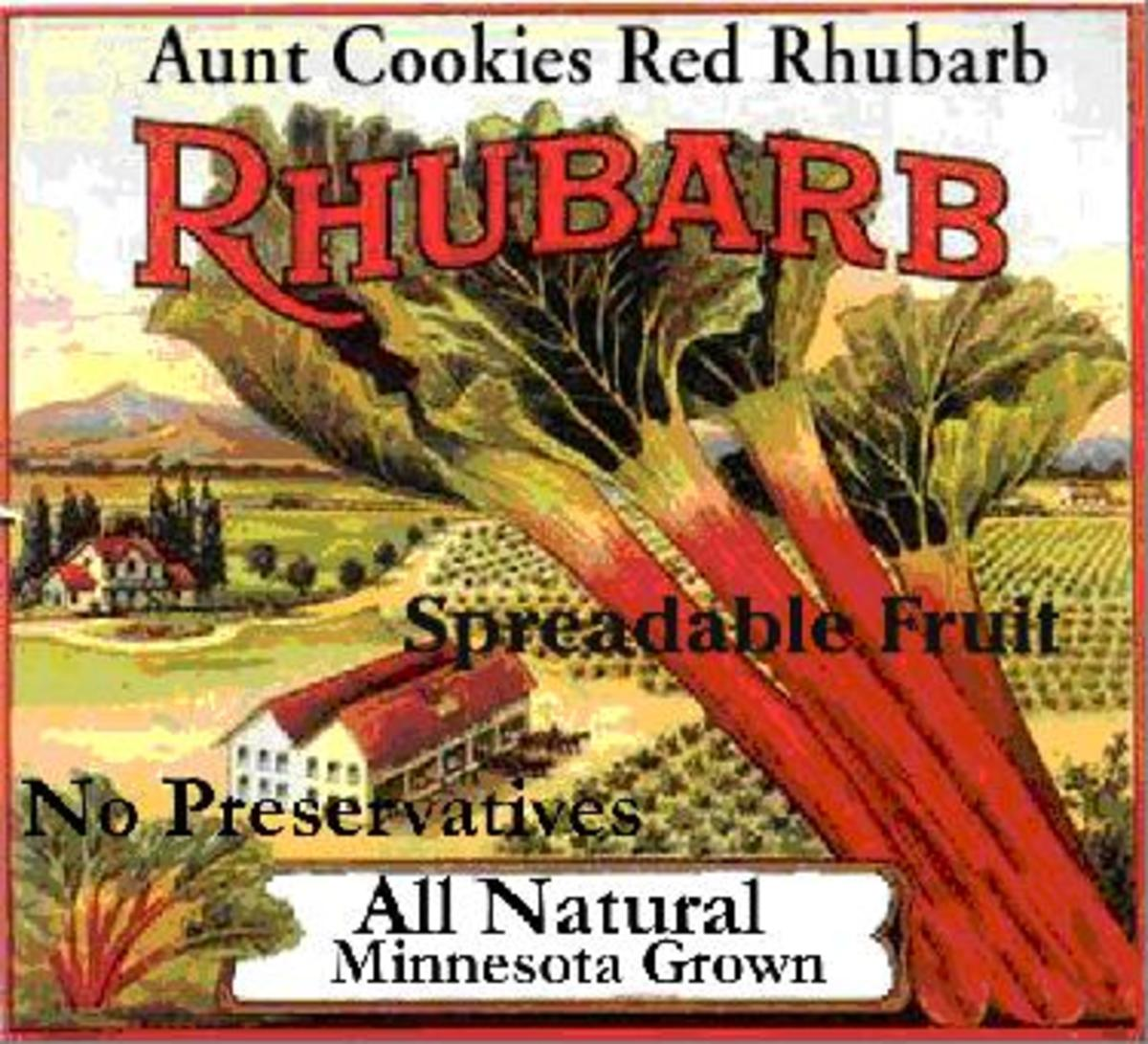Rhubarb was once used as a cheap sweetener.