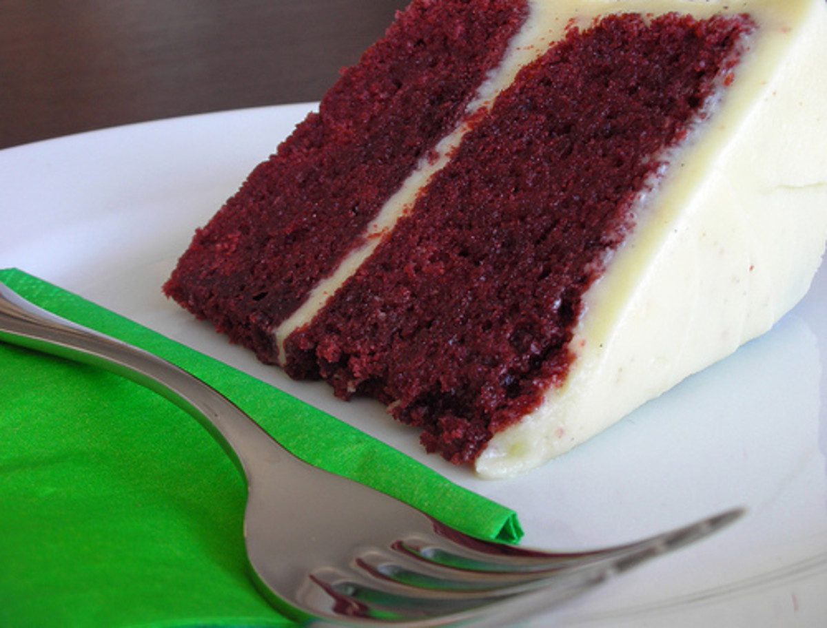 Healthy Low-Fat Red Velvet Cake & Cream Cheese Frosting Recipes