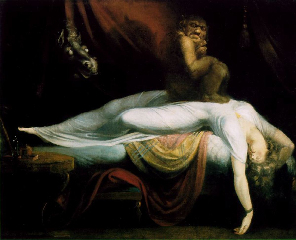 Fussli's The Nightmare (depicting an incubus)