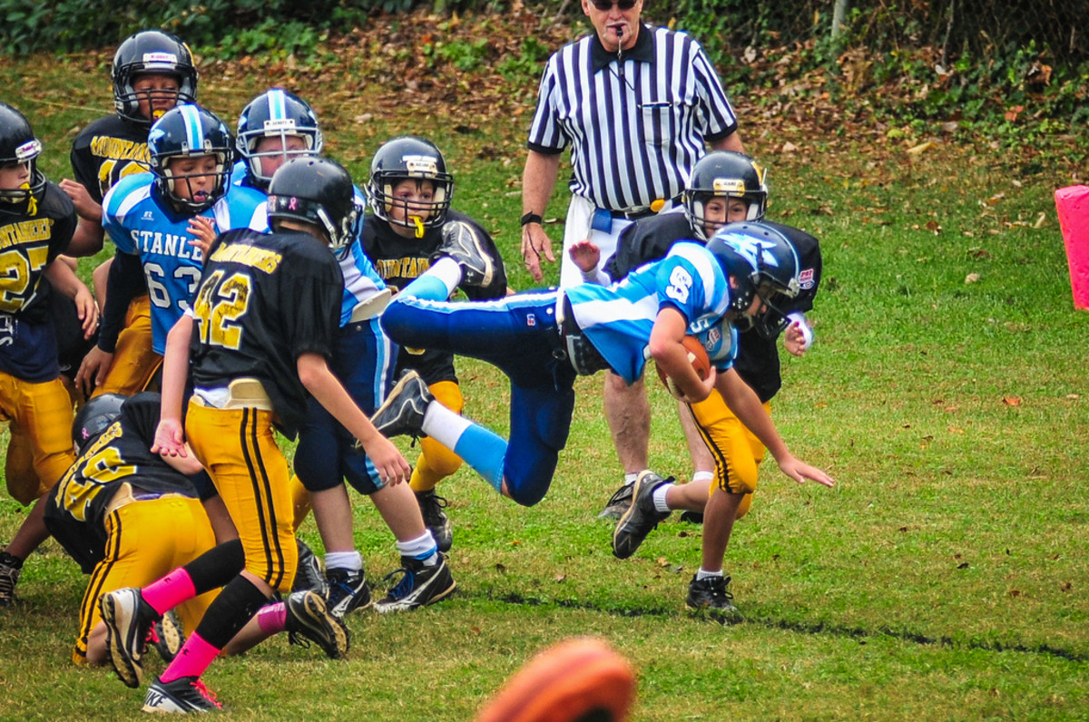 Exciting pee wee football