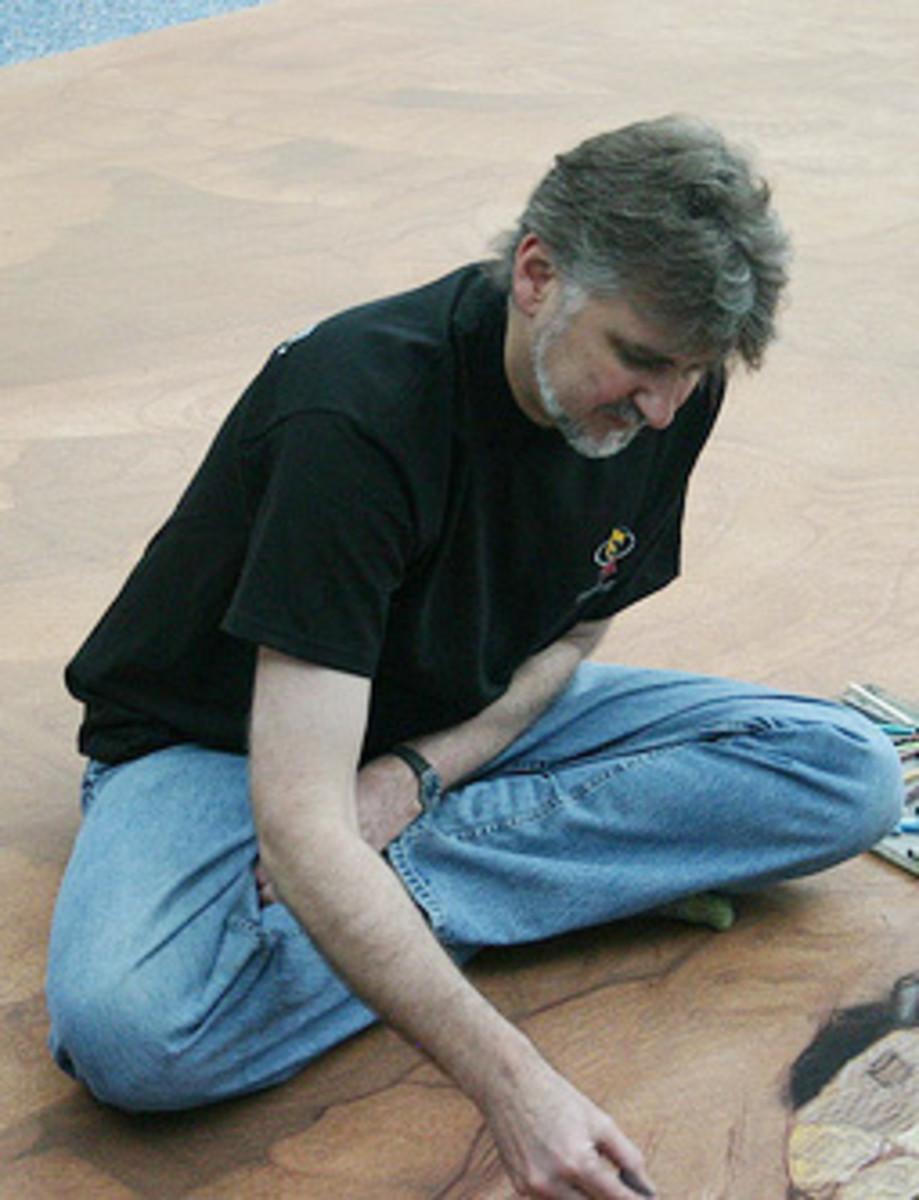 Kurt Wenner at work