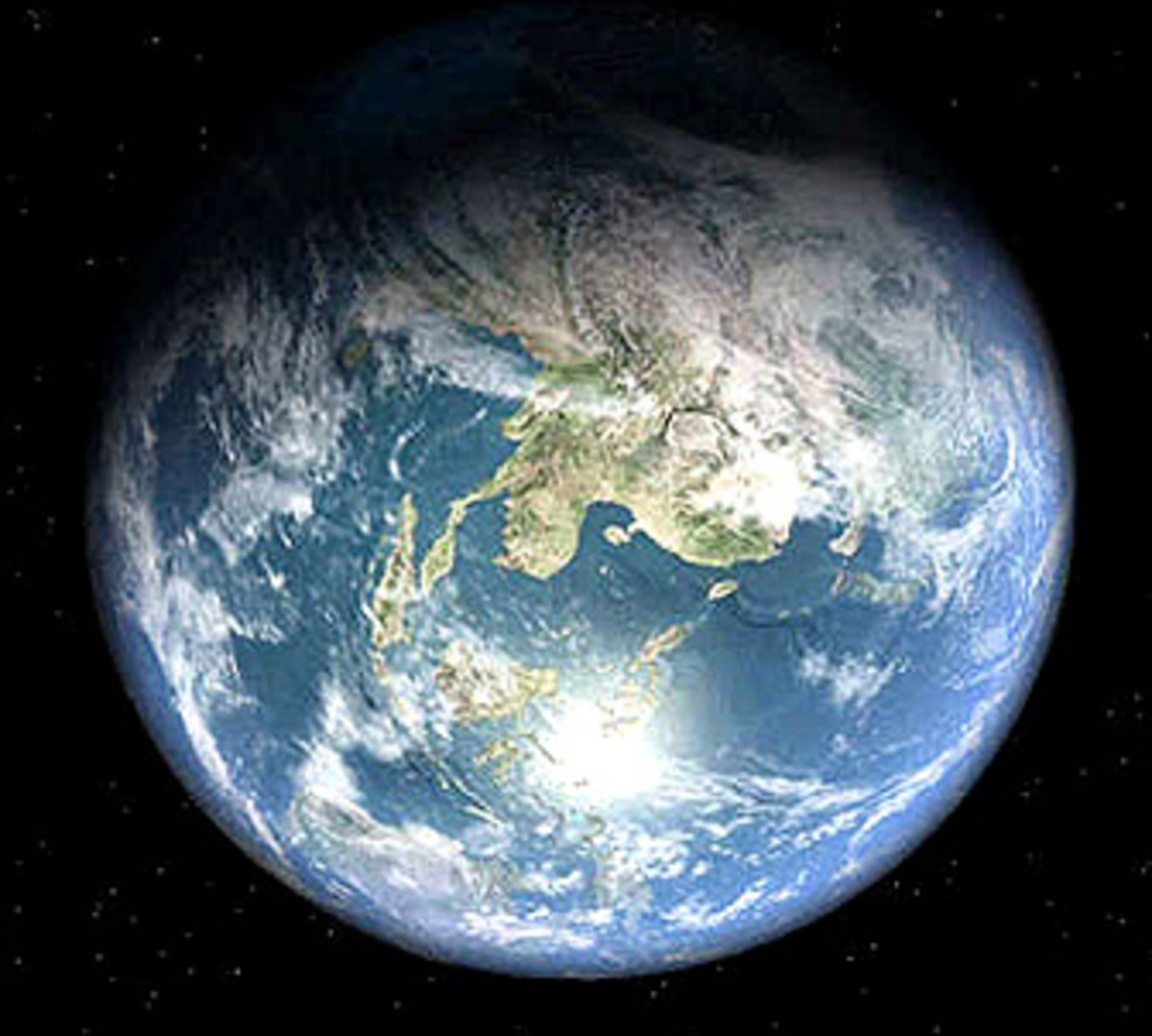 Earth, as seen from the moon.