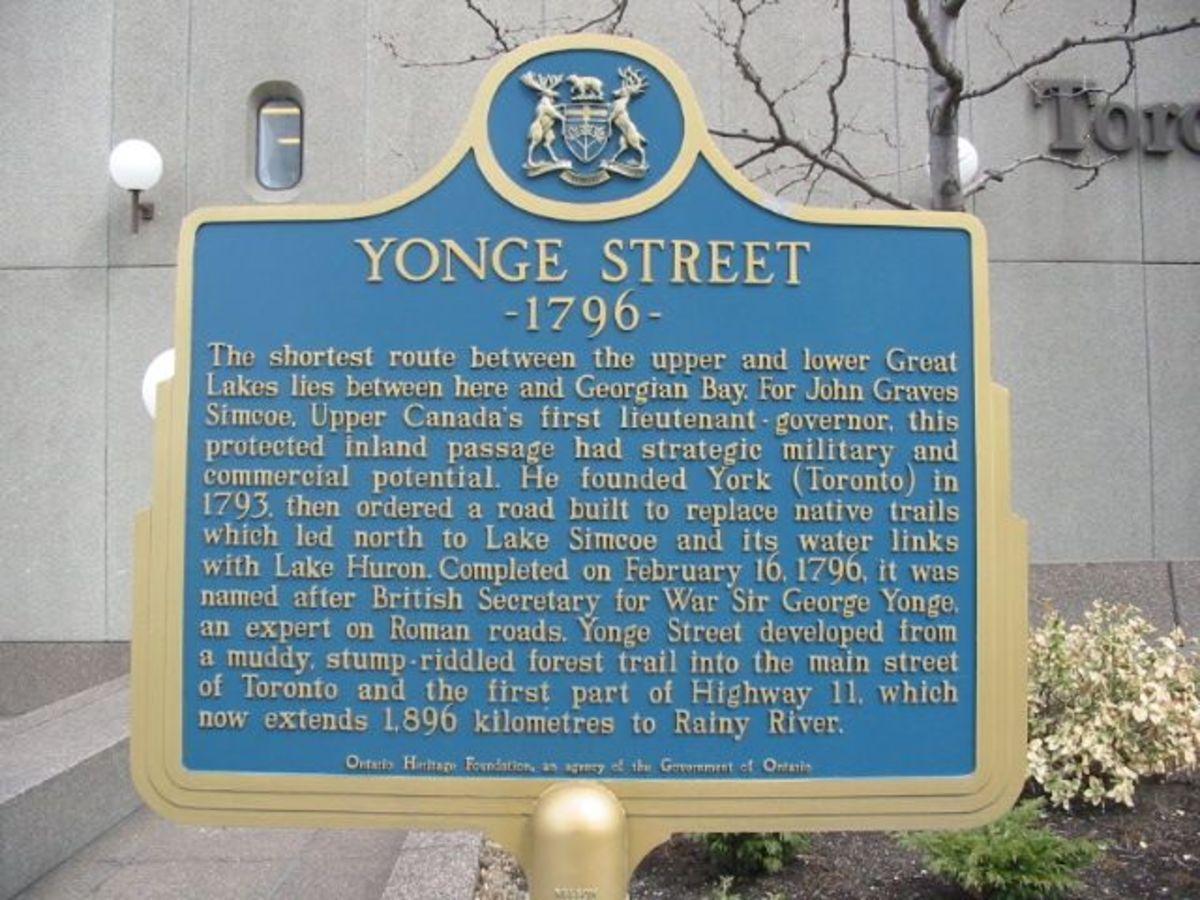 Yonge Street Plaque.