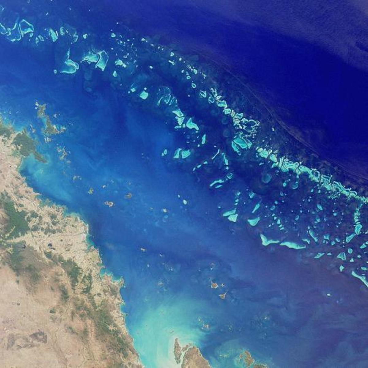 Satellite view, NASA (public domain)