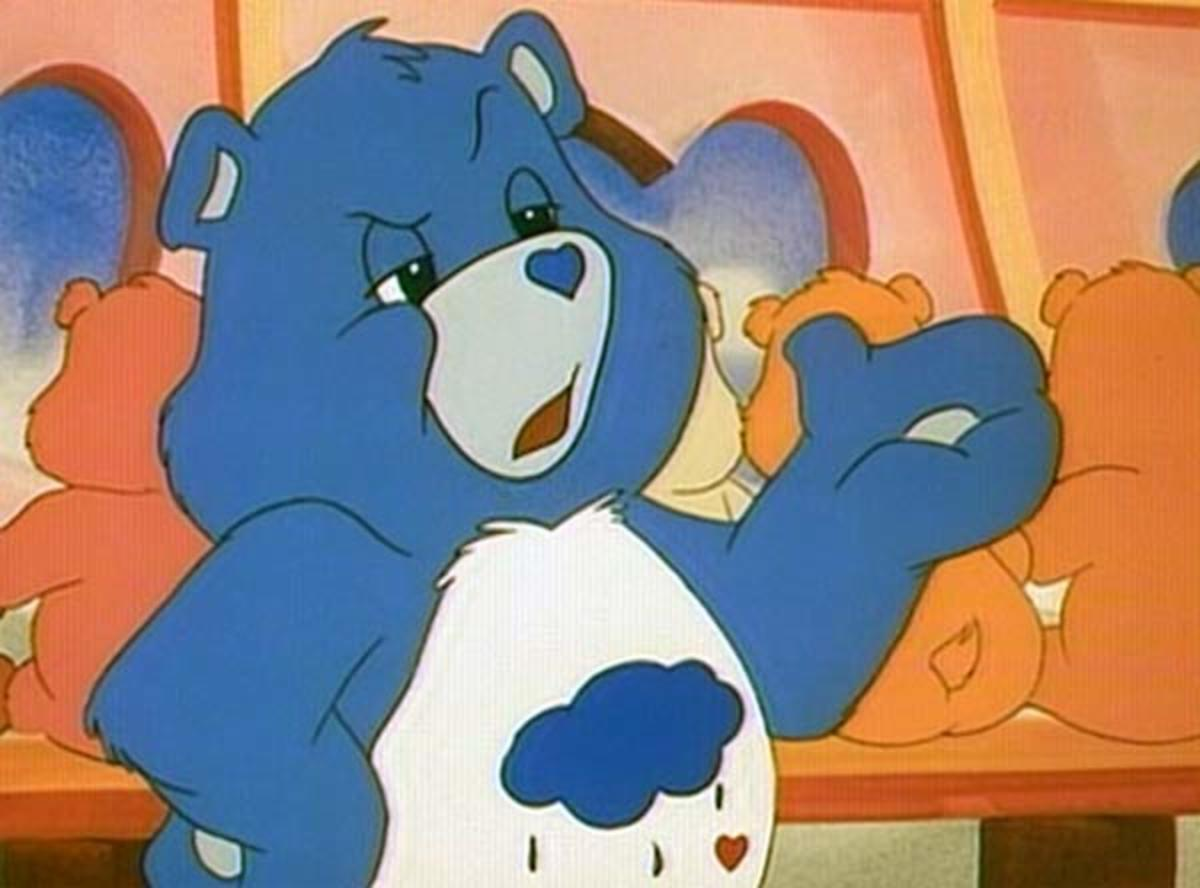 80s Cartoons Grumpy Bear of the Care Bears- My Favorite of the Care Bears! Fair Use Image