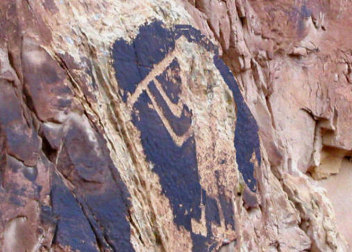 Kokopelli in Dinosaur National Monument