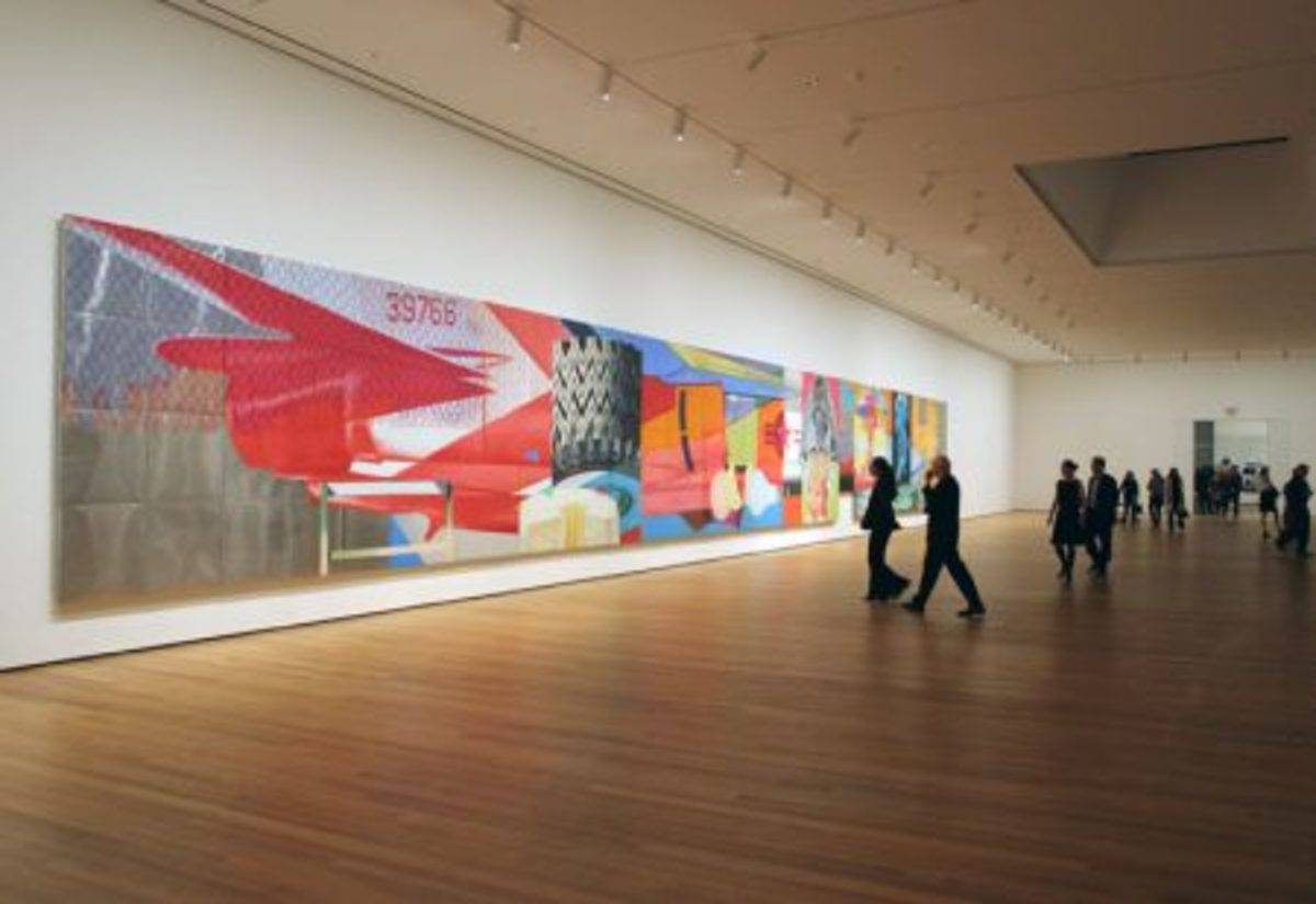 The MoMA features four floors of contemporary art