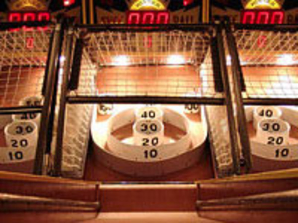 Skee-ball at Dave & Buster's is a fun after-dinner activity