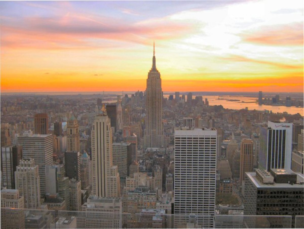 End the evening on a high note with a visit to Rockefeller's Center rooftop observation deck