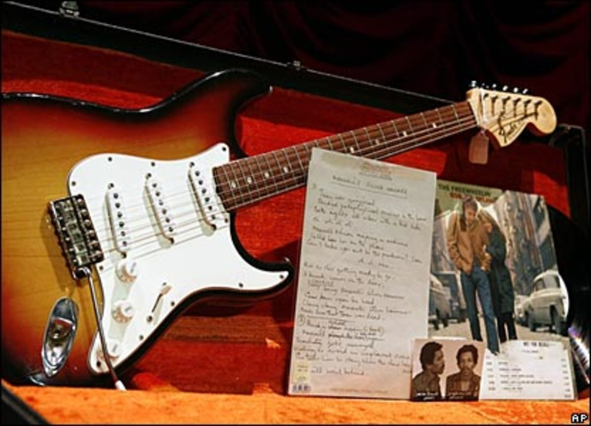 Music memorabilia lines the walls at the Hard Rock Cafe