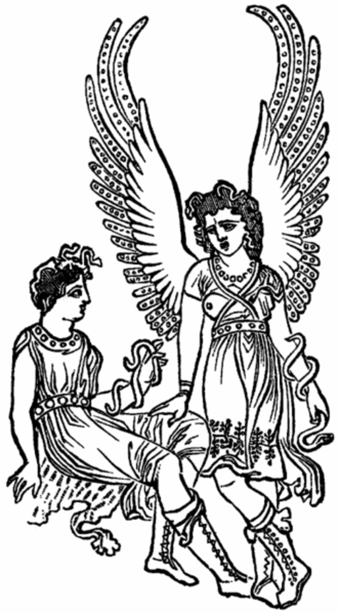 The Erinyes (from an ancient vase)