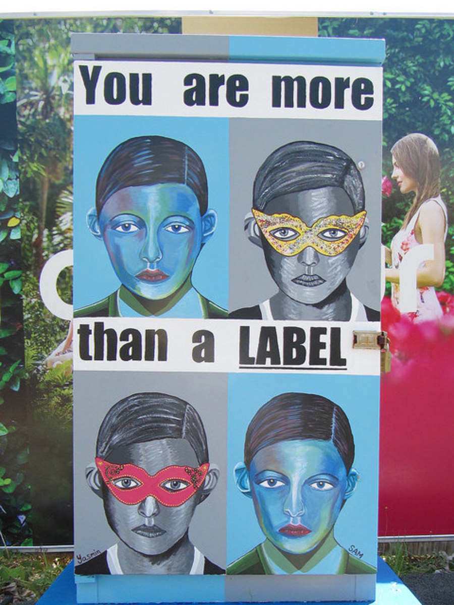 This poster compares the reader to a label and finds the label lacking. A person is so much more than a label!