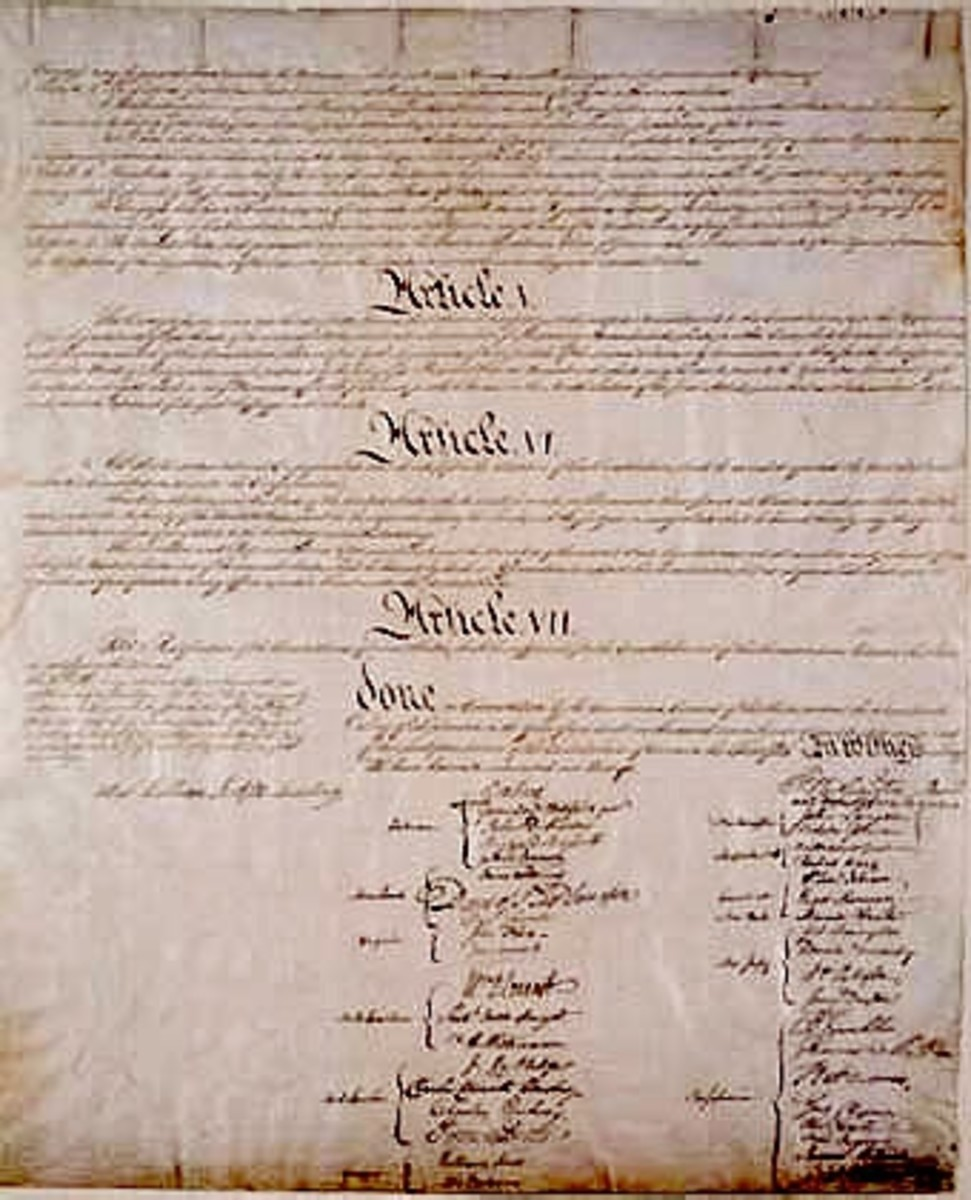 Close-up of signatures.