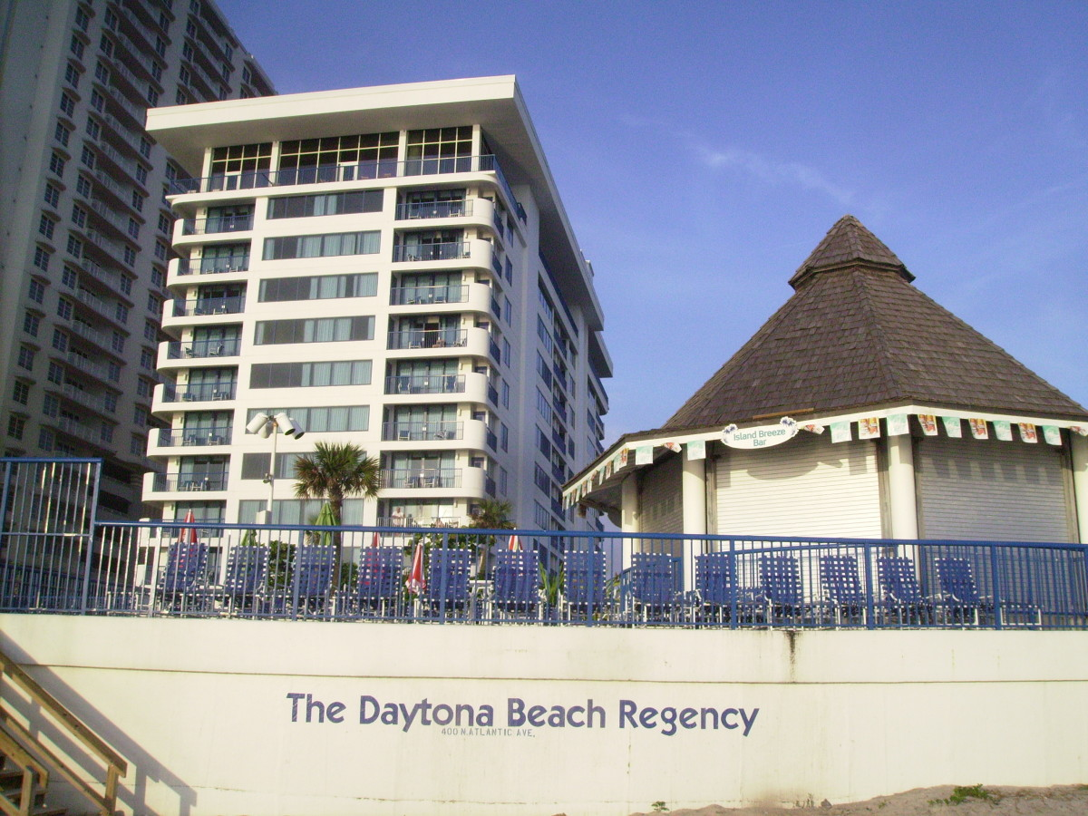 A smaller beach front complex in Daytona Beach, Florida.