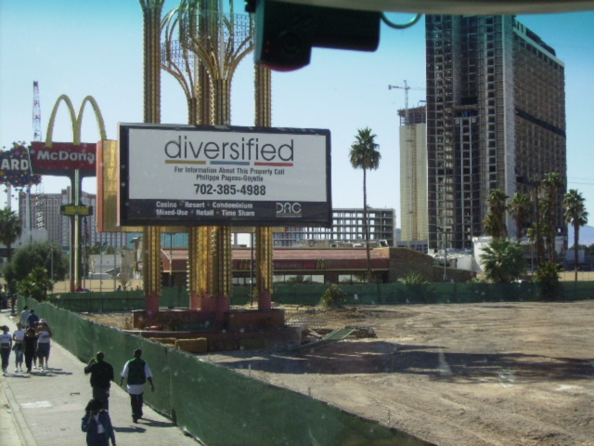 Site of Future Timeshare on Las Vegas Strip