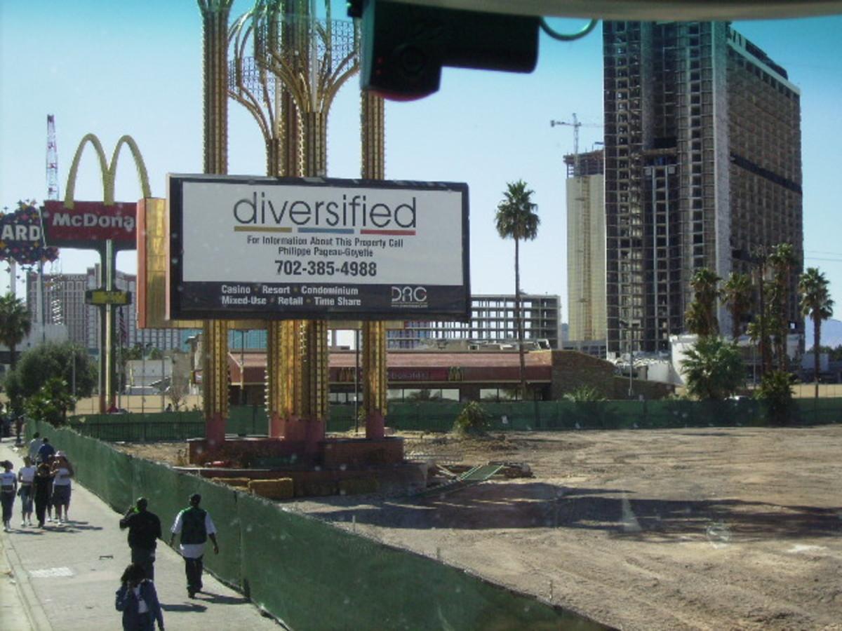 Site of Future Timeshare on Las Vegas Strip
