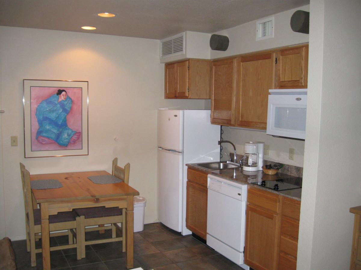 Kitchen in a unit in Diamond Resorts' Villas de Santa Fe in Santa Fe, NM