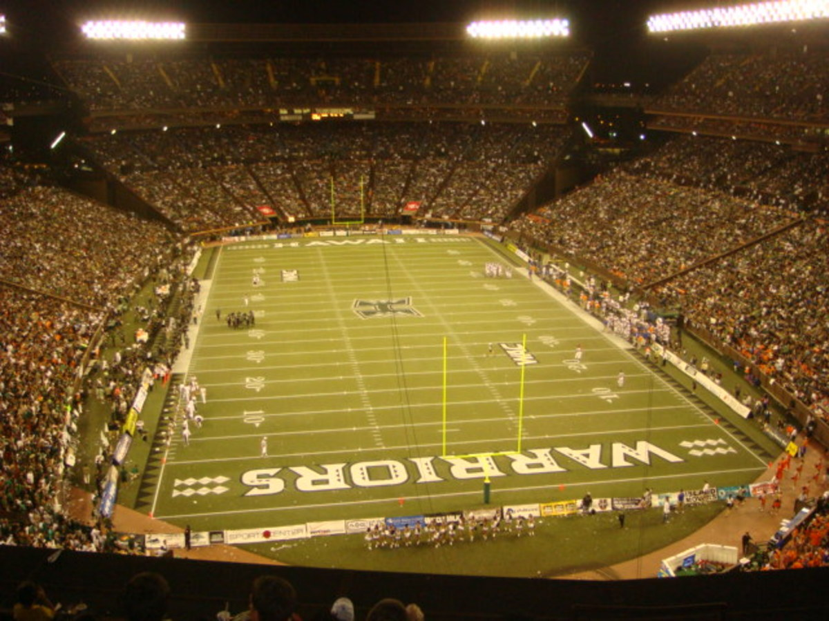 Aloha Stadium:  Salt Lake Blvd, Honolulu HI.