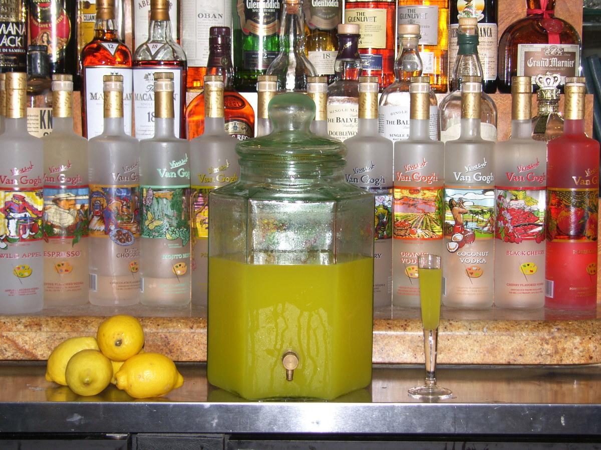 Limoncello at Cucina D'Angelo in Boca Raton