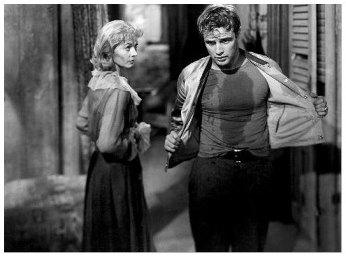 With Marlon Brando in A Streetcar Named Desire