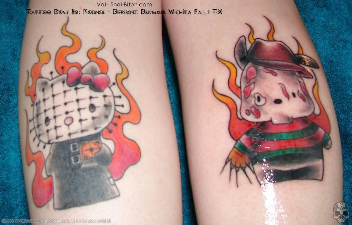 hello kitty tattoo designs. Hello Kitty quot;Hellraiserquot; and