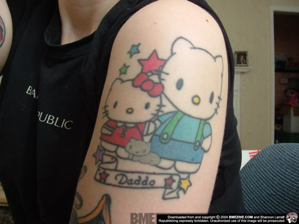 HELLO KITTY Tattoo Picture Gallery