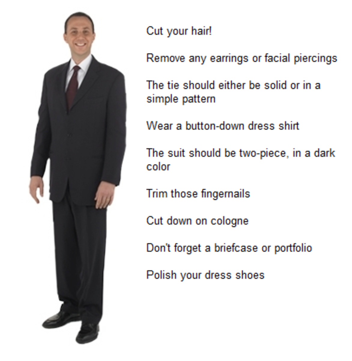 What men should wear to an interview