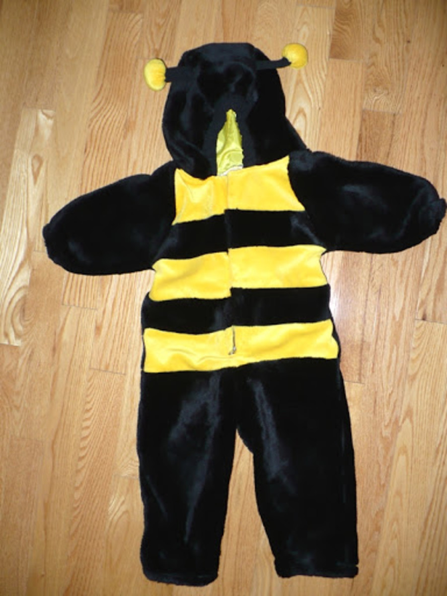Bumblebee dress for boys for Halloween 2013