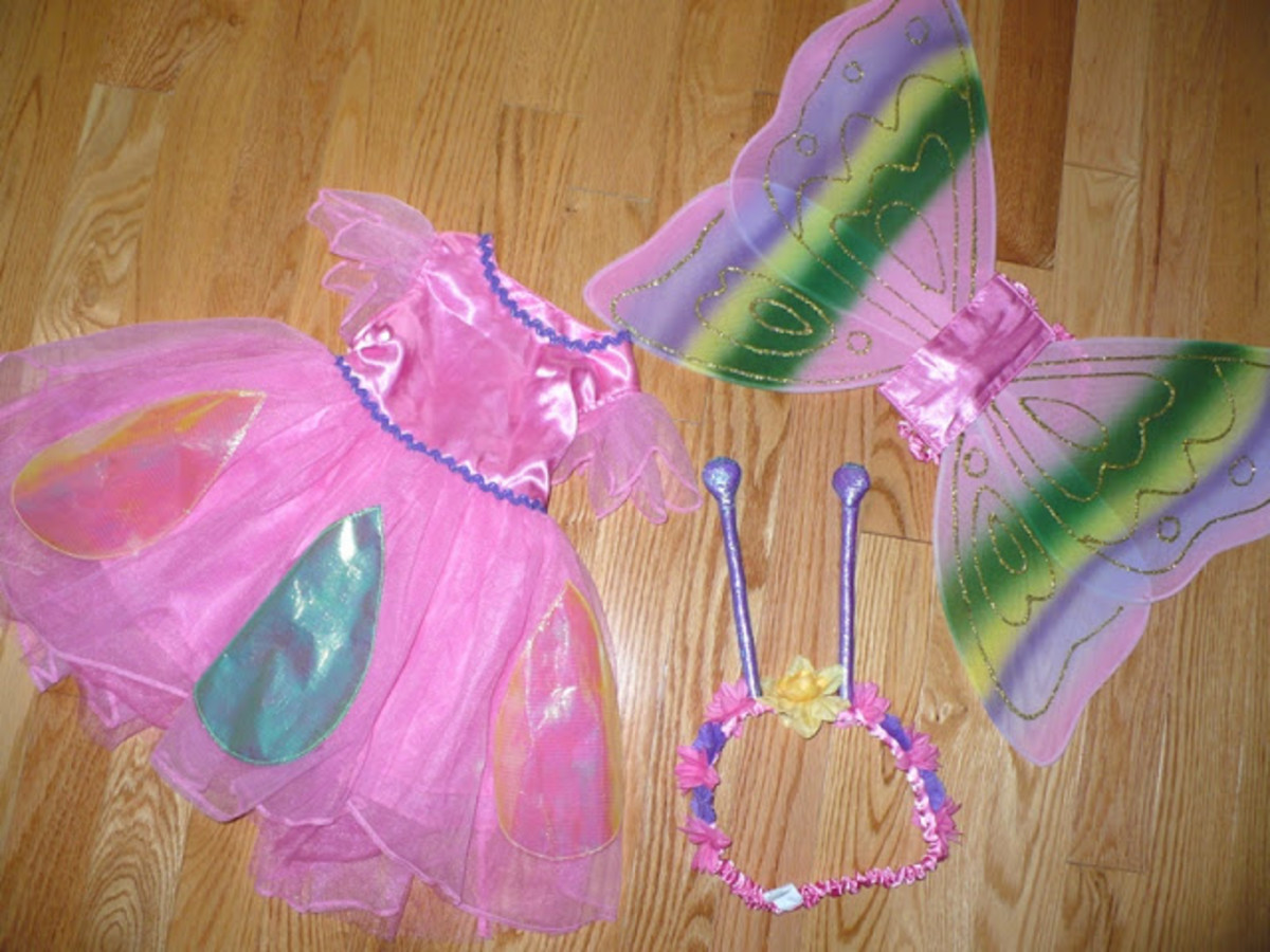 TCP butterfly costume for girls for Halloween 2013