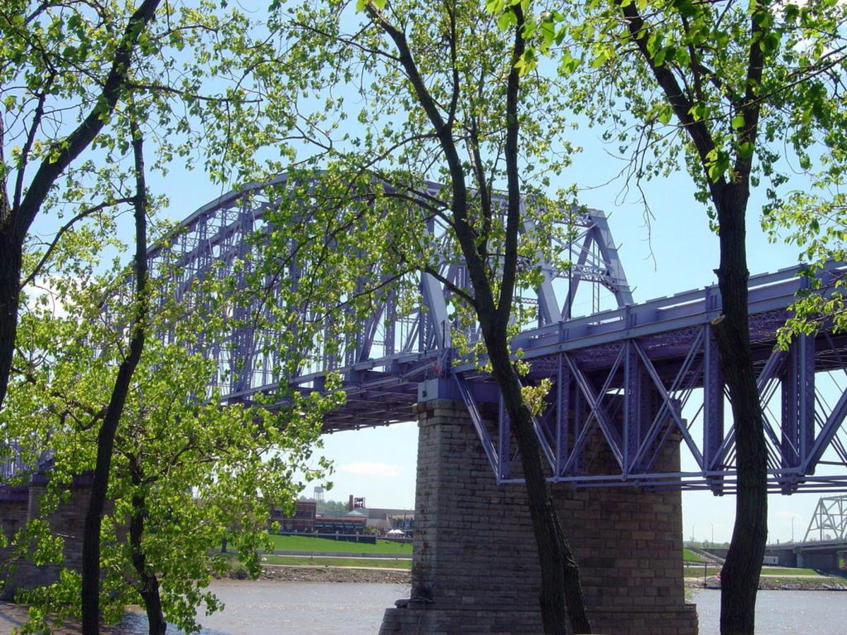 Cinci's The Purple People Bridge, a pedestrian walkway.