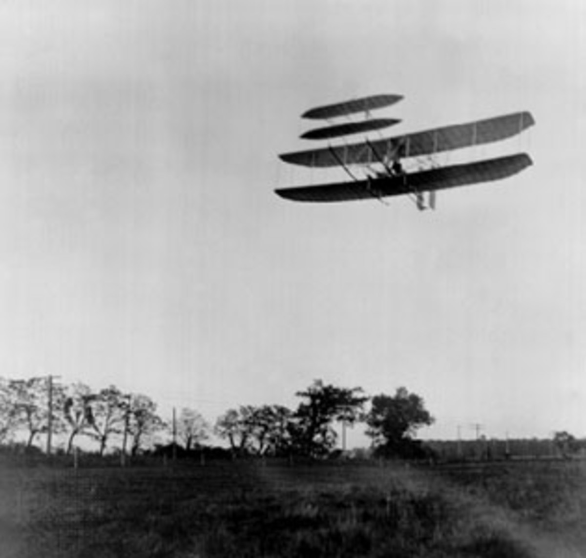 Wright Brothers' Historic Flight over Huffman Prairie