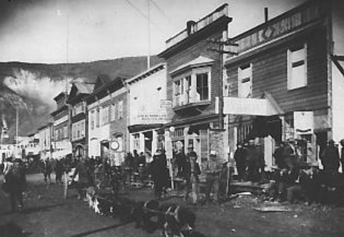 Dawson City in the Goldrush