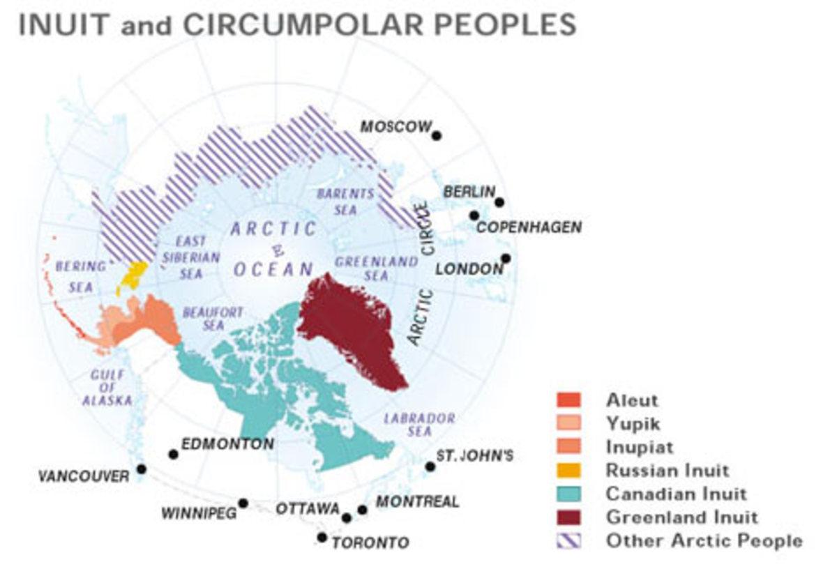 Map from the files of Inuit Tapiriit Kanatami.