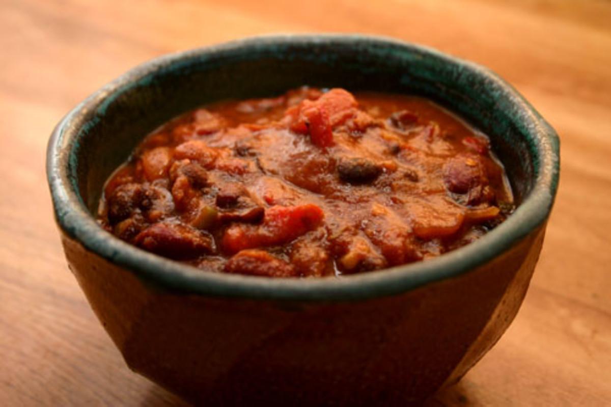 Vegetarian Chili Recipe, Quick and Easy