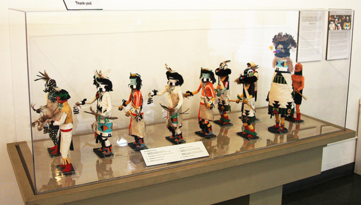 Zuni Shalako ceremonial prarade at the Museum of Man in San Diego, California