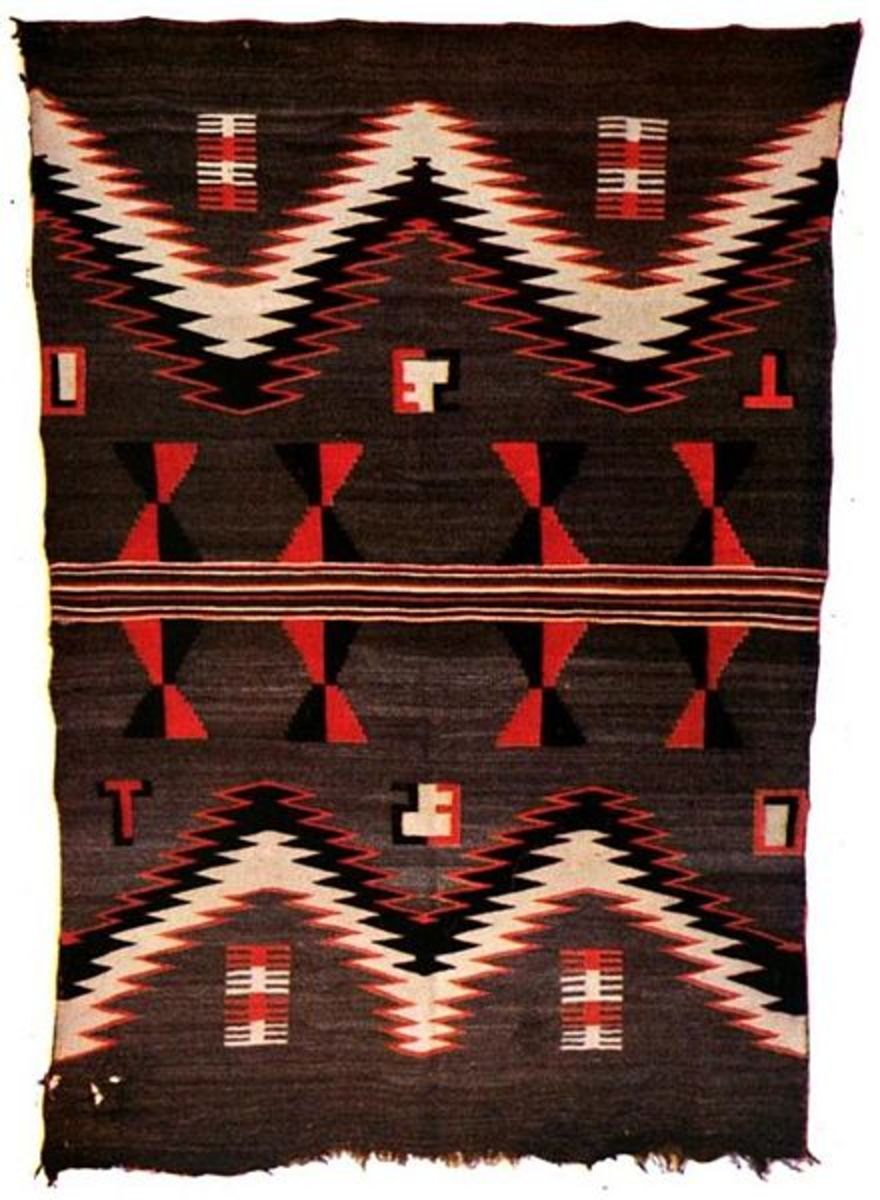 Navajo blanket made in the 1800s.
