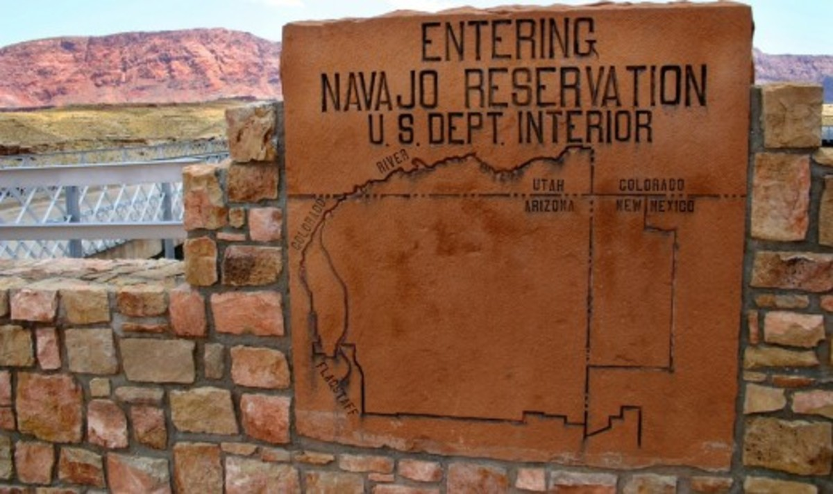 Reservation in the states of the Four Corners.