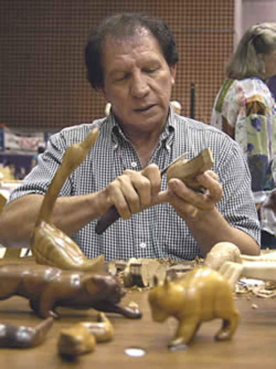 Louisiana FolkLife Center - Roy Parfait, Native American Woodcarver
