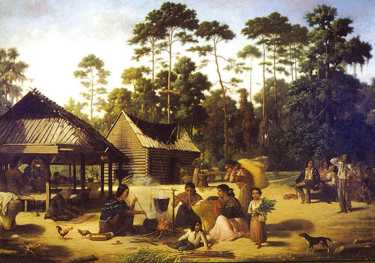 A Choctaw village.